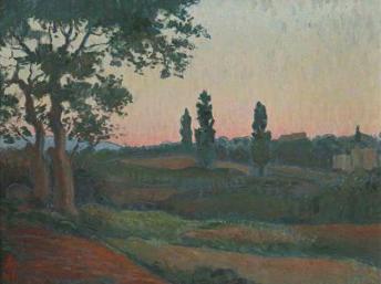 Chiều tà (Le Déclin du jour) của vua Hàm Nghi, vẽ năm 1915 tại Alger.