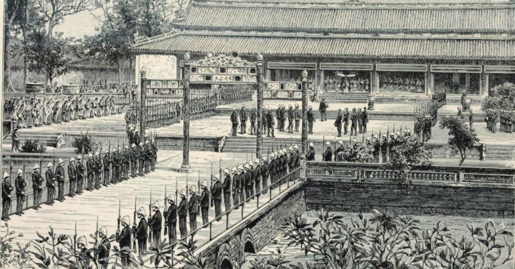 lễ Tết trước điện Thái Hòa