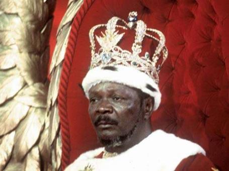 Jean-Bédel Bokassa chụp ngày 4.12.1977, sau khi tự xưng hoàng đế nước Cộng Hòa Trung Phi. (Hình: Getty Images)