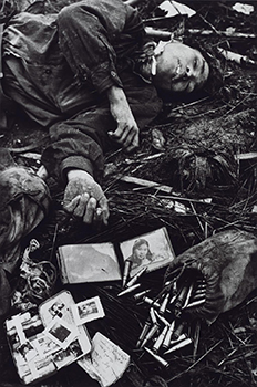 A Young Dead North Vietnamese Soldier with His Possessions 1968, printed 2013 by Don McCullin born 1935